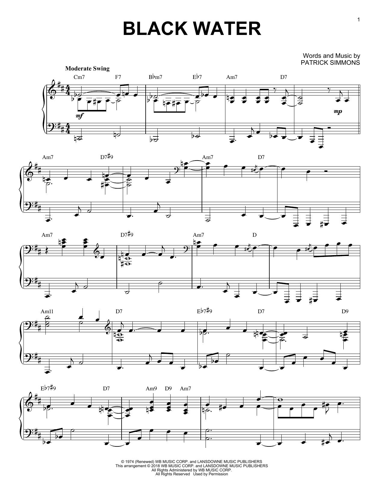 Black Water [Jazz version] (Piano Solo)