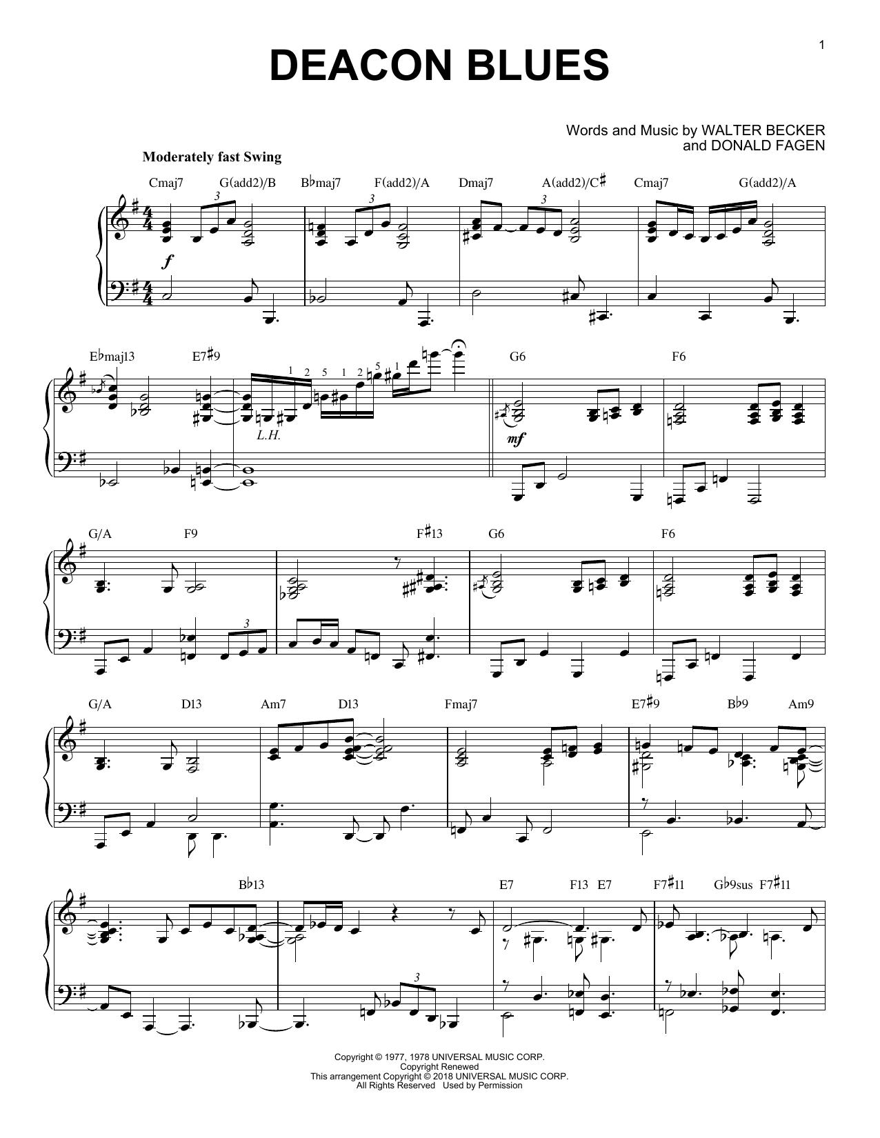 Deacon Blues (Piano Solo)