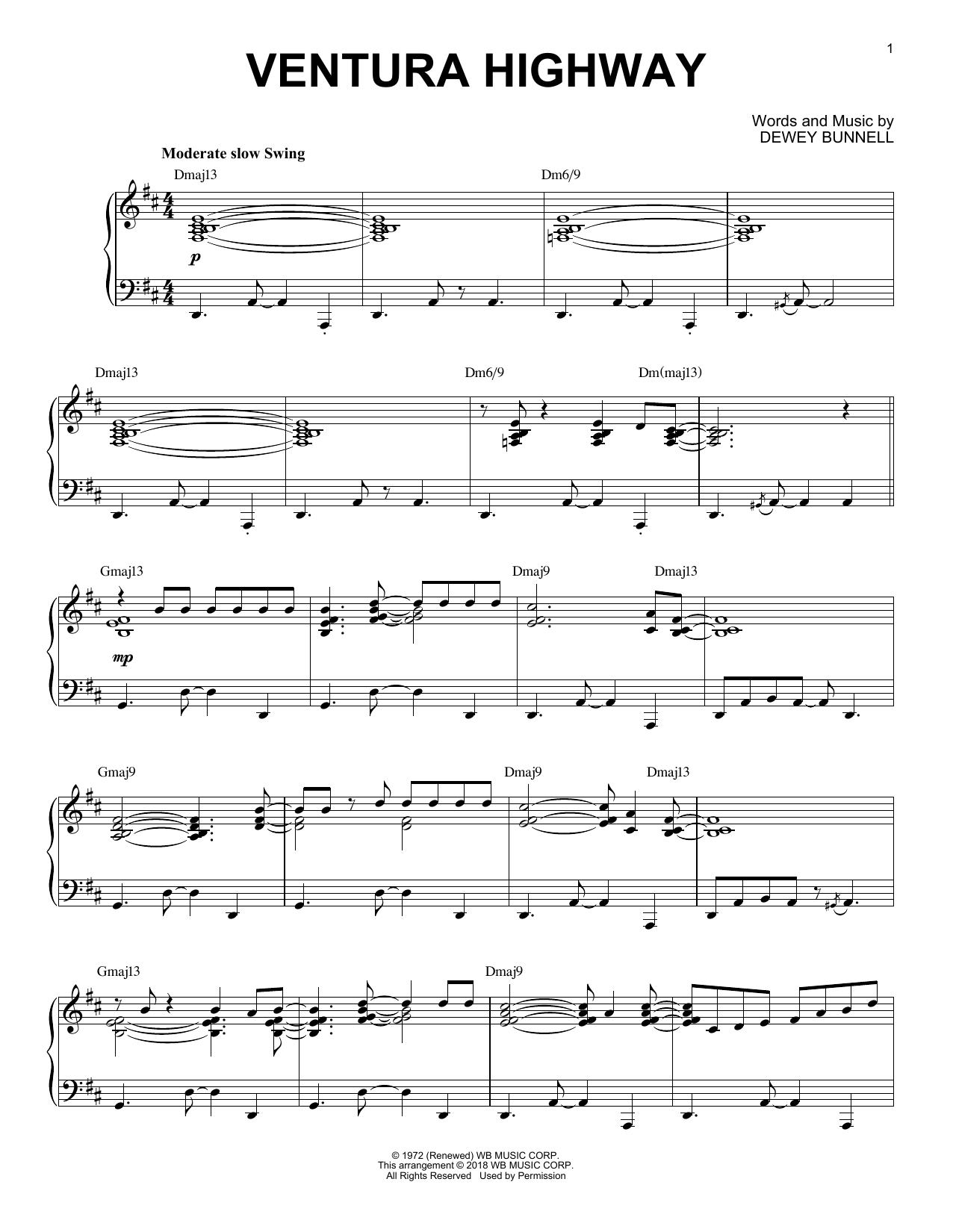 Ventura Highway (Piano Solo)