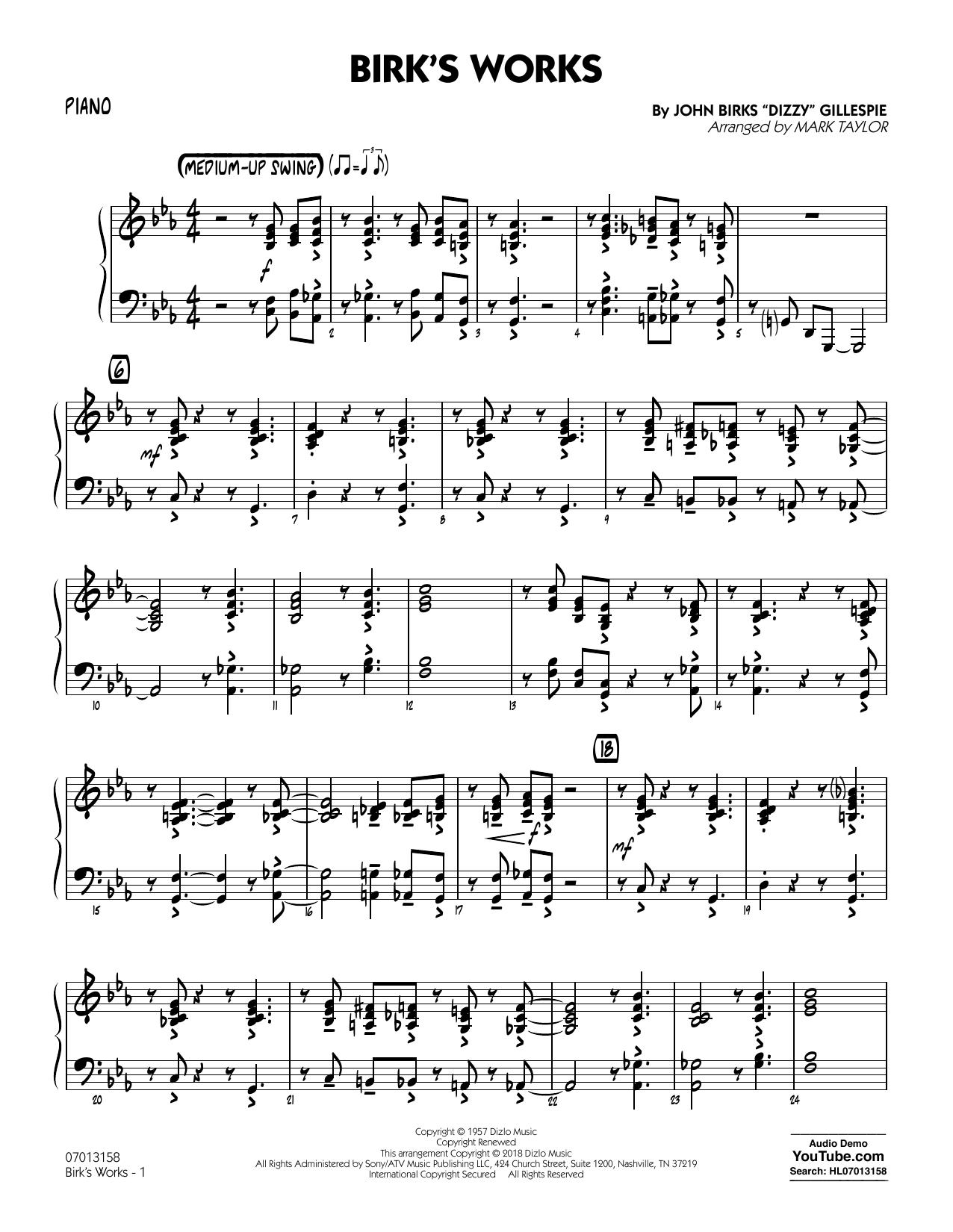 Birk's Works - Piano (Jazz Ensemble)