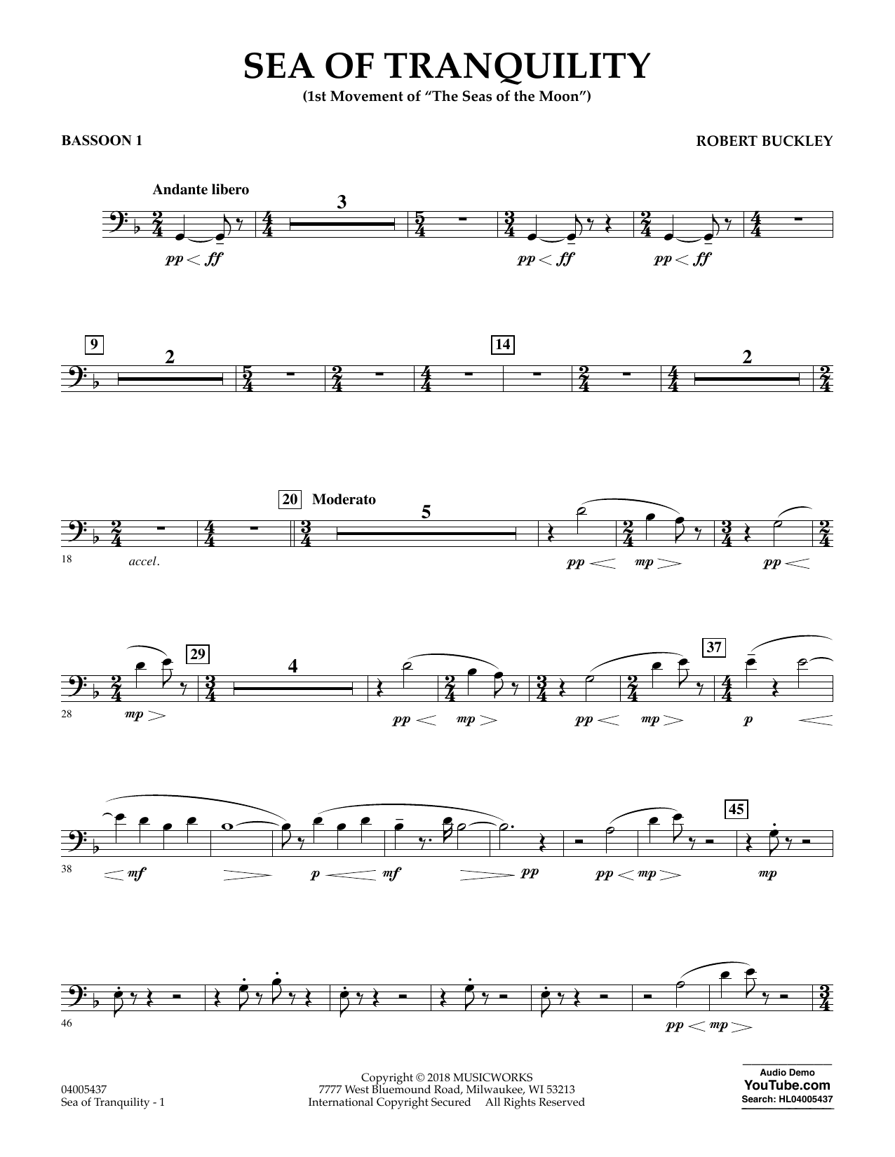 Sea of Tranquility - Bassoon 1 (Concert Band)