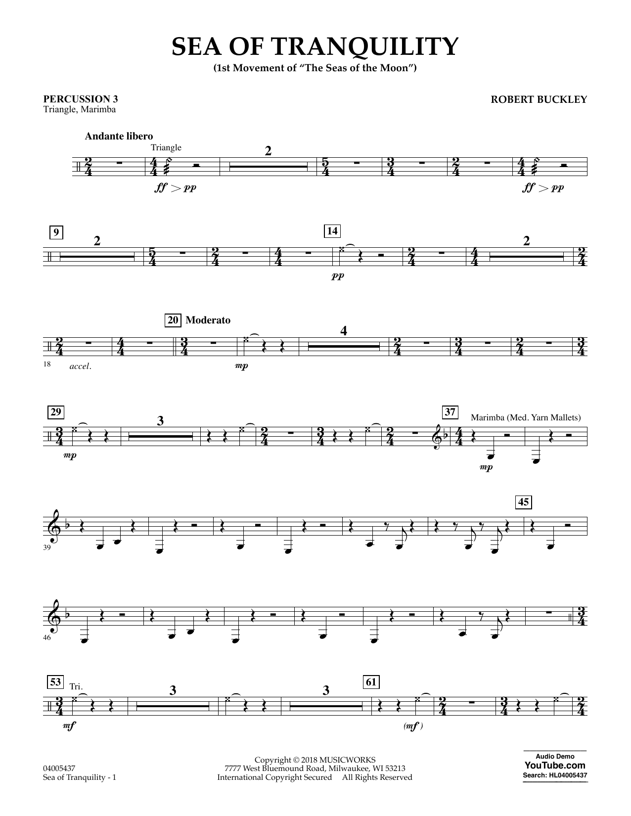 Sea of Tranquility - Percussion 3 (Concert Band)