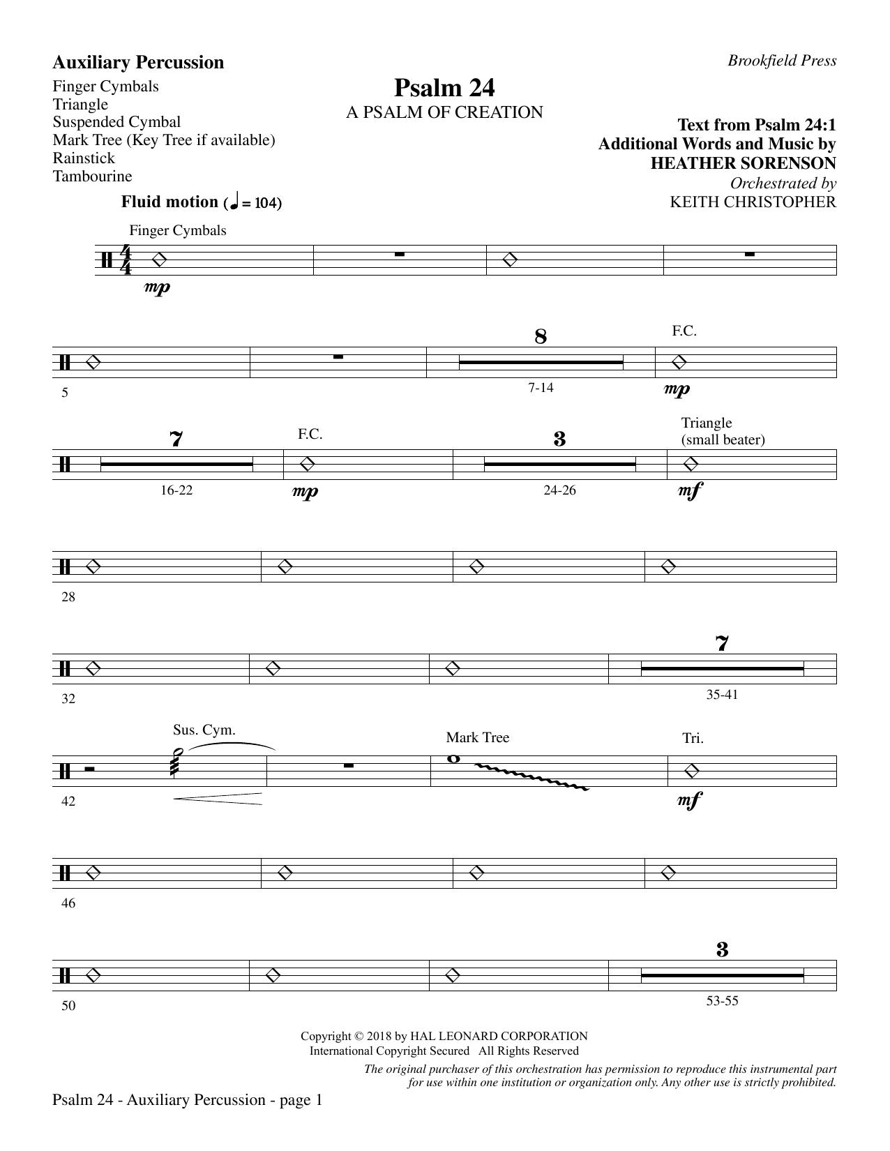 Psalm 24 - Aux. Perc. (Choir Instrumental Pak)