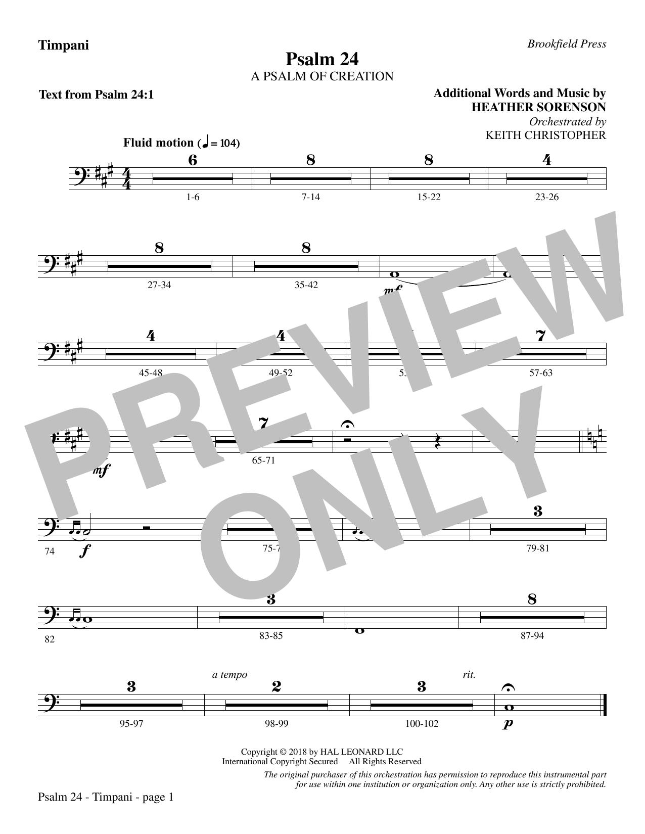 Psalm 24 - Timpani (Choir Instrumental Pak)
