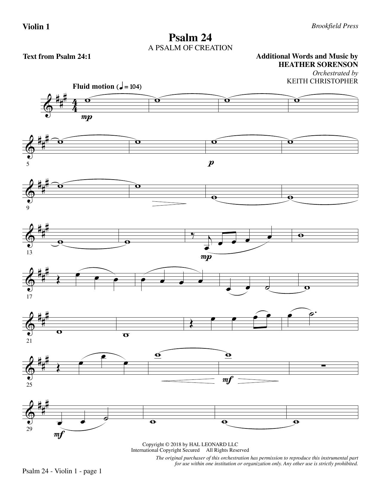Psalm 24 - Violin 1 (Choir Instrumental Pak)
