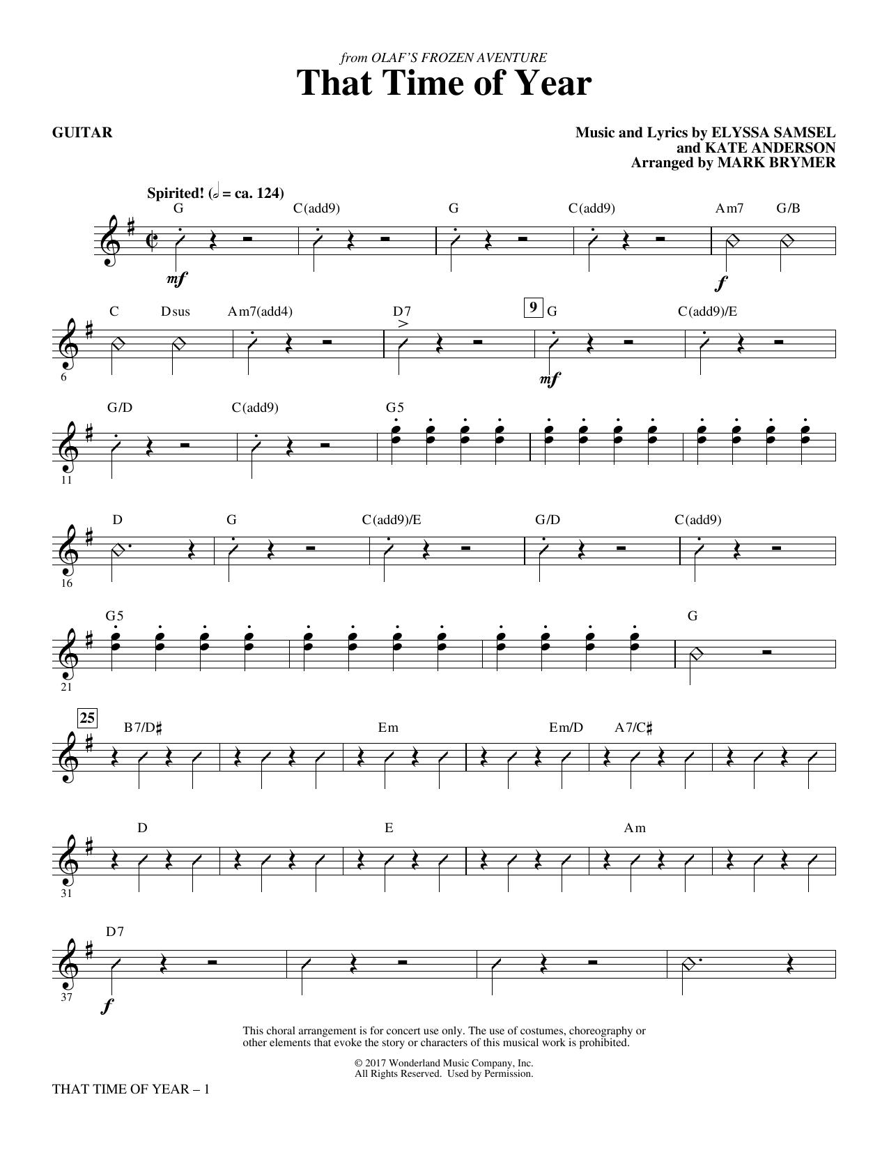 That Time of Year - Guitar (Choir Instrumental Pak)