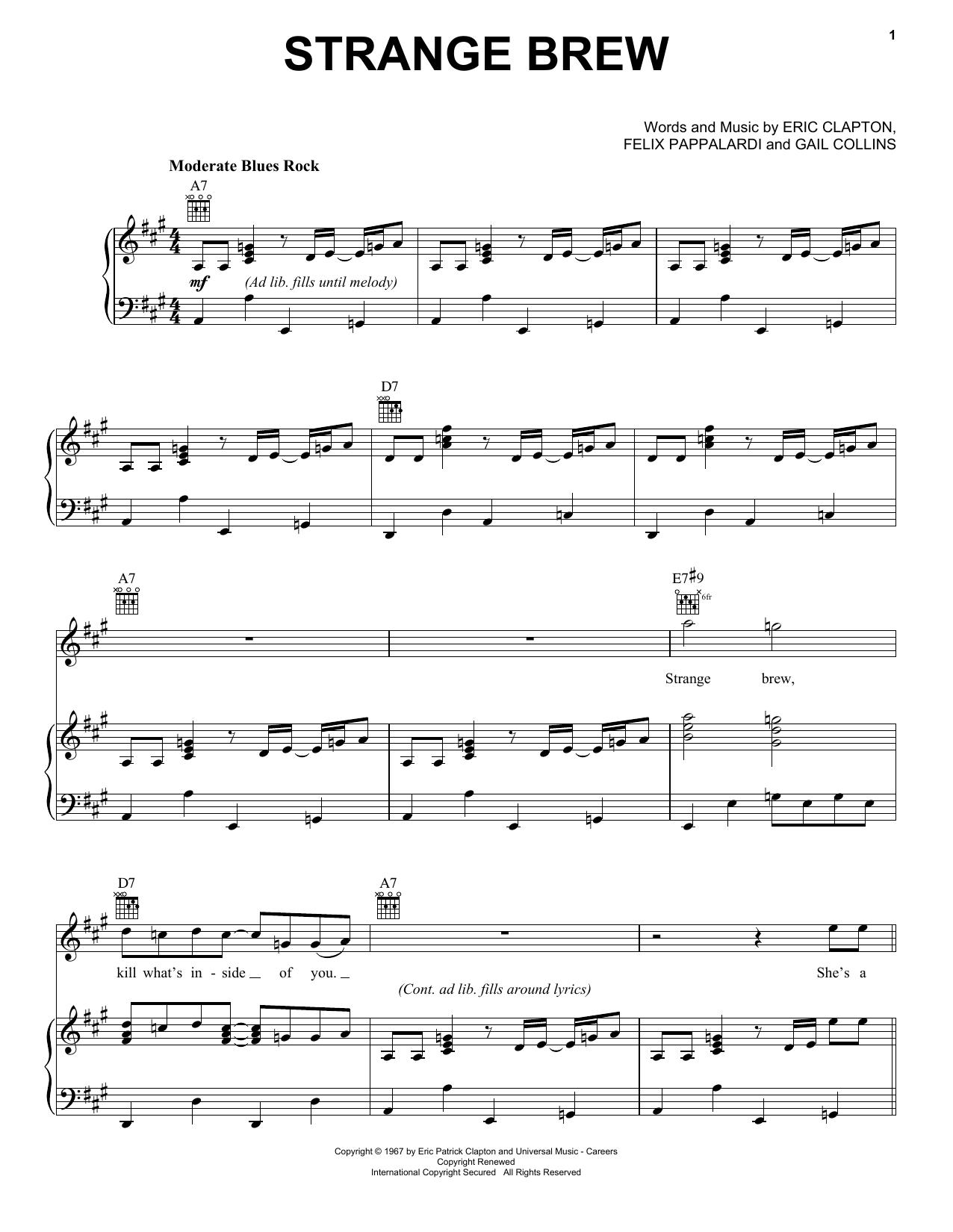 Strange Brew (Piano, Vocal & Guitar (Right-Hand Melody))