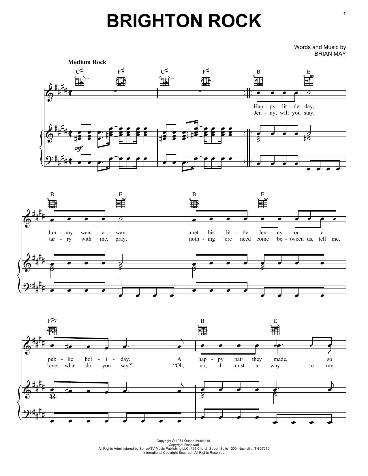 Sheet Music Digital Files To Print Licensed Brian May