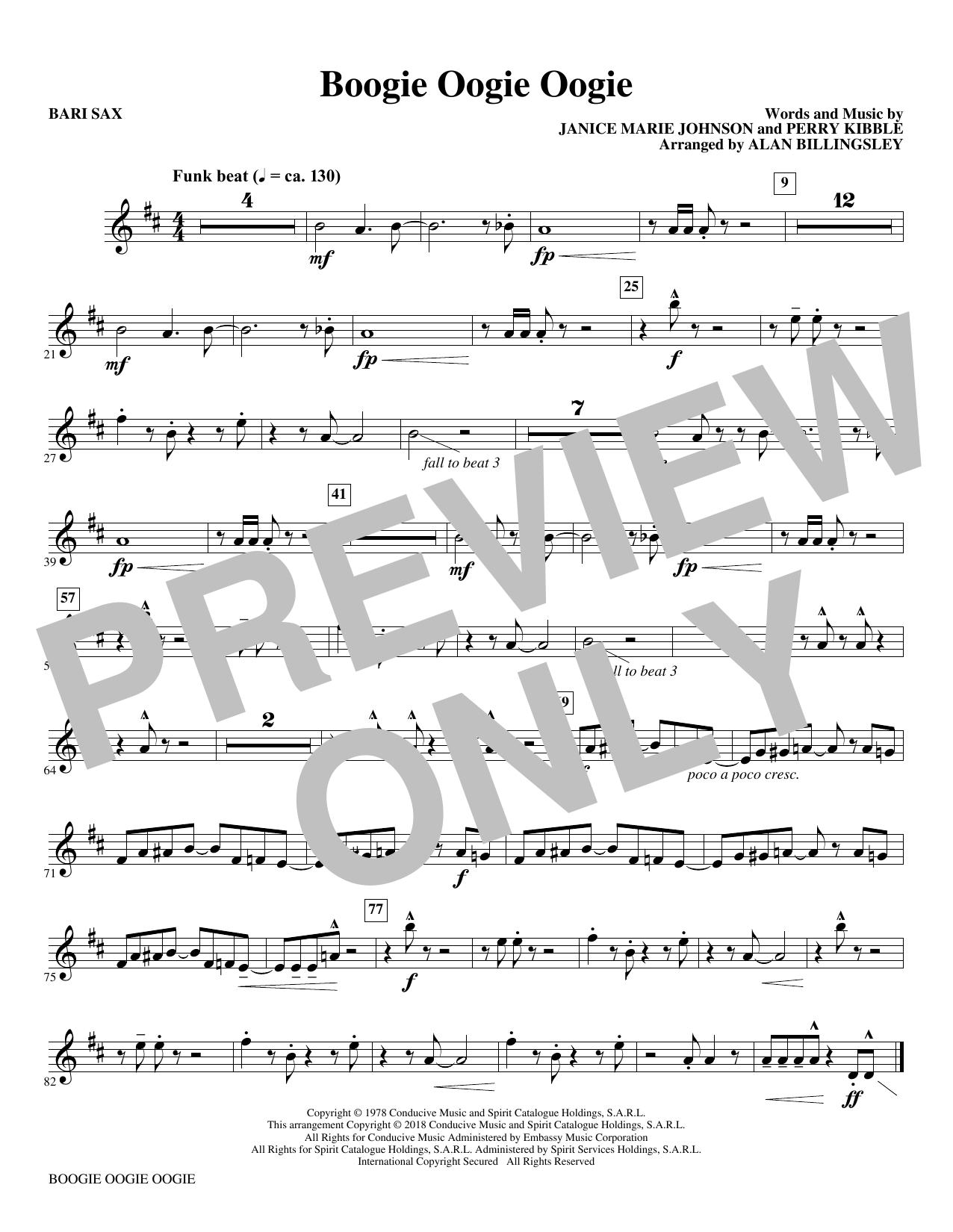 Boogie Oogie Oogie (arr. Alan Billingsley) - Baritone Sax (Choir Instrumental Pak)