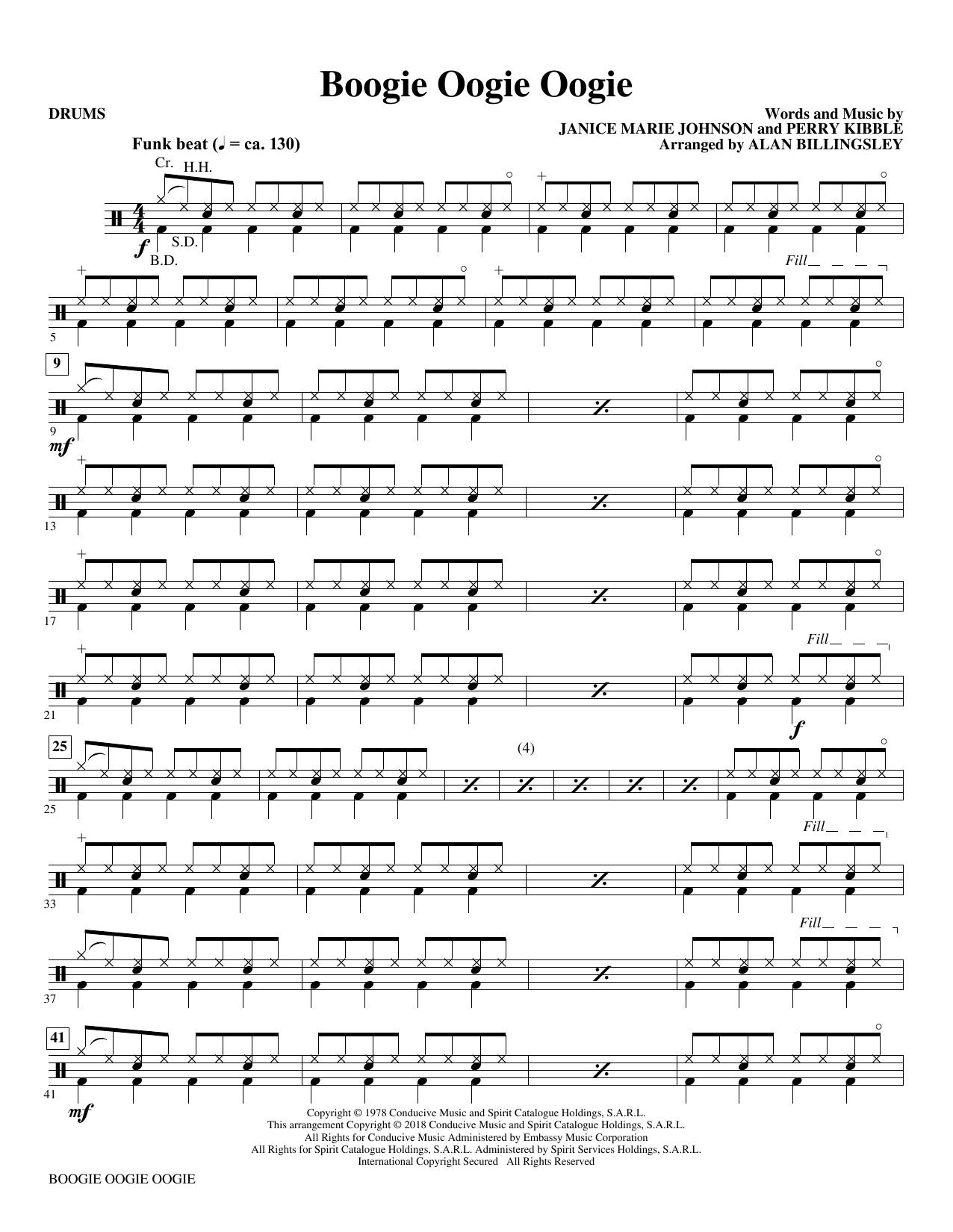 Boogie Oogie Oogie (arr. Alan Billingsley) - Drums (Choir Instrumental Pak)