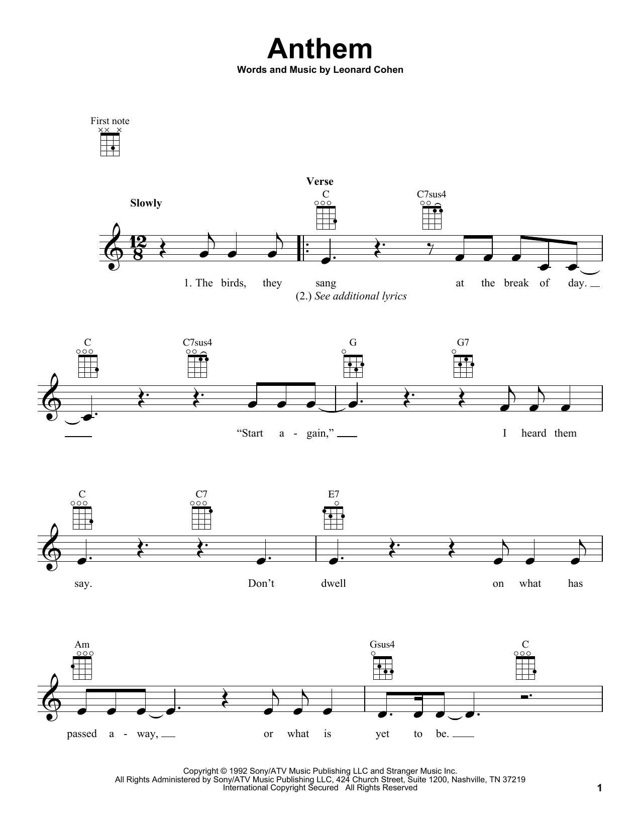 Anthem (Ukulele)