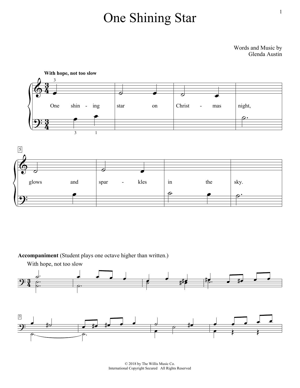 One Shining Star Sheet Music