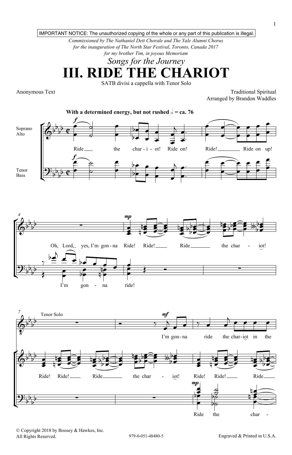 Ride The Chariot (SATB Choir)