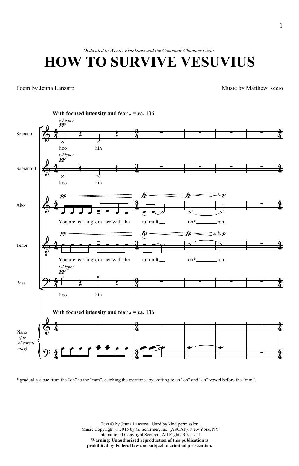 How To Survive Vesuvius (SATB Choir)