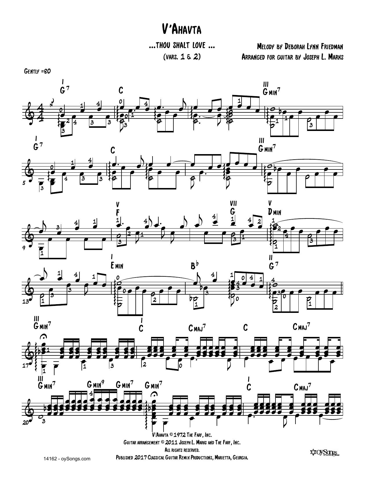 V'ahavta Vars 1, 2 Sheet Music