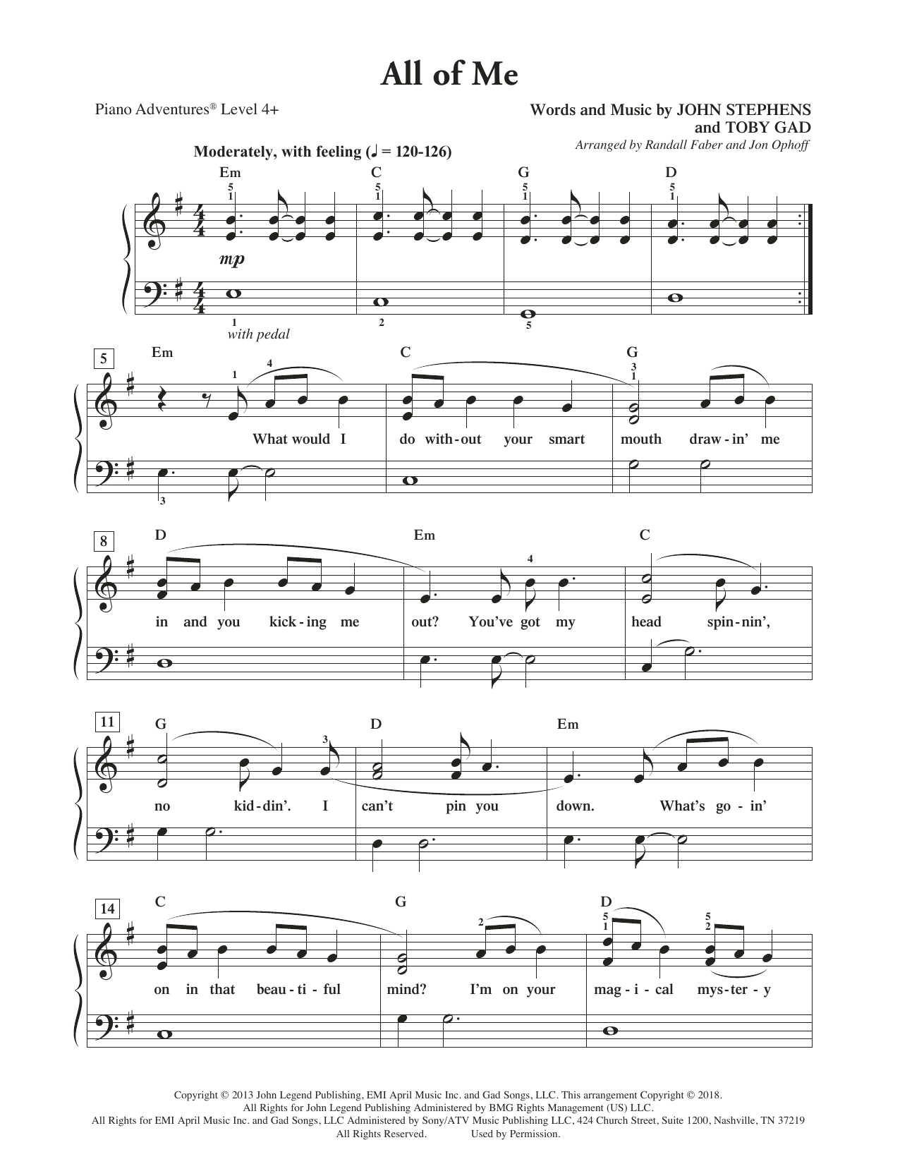 All Of Me Piano Sheet Music all of merandall faber & jon ophoff piano adventures digital sheet music