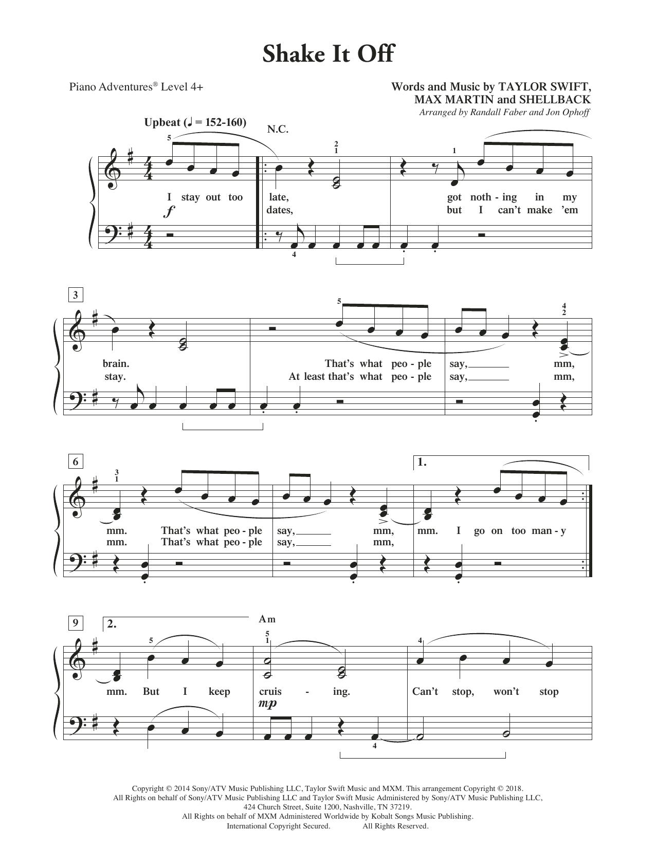 Shake It Off (Piano Adventures)