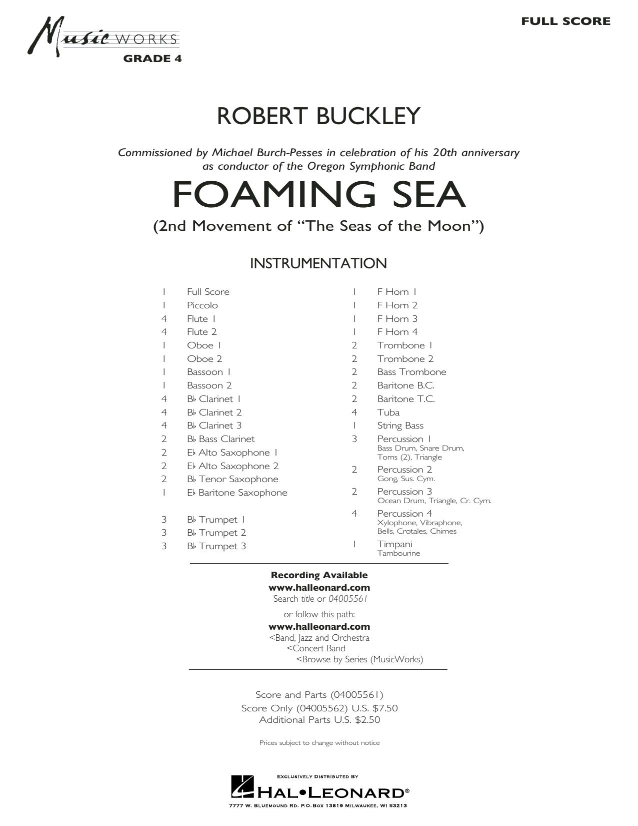 Foaming Sea - Conductor Score (Full Score) (Concert Band)
