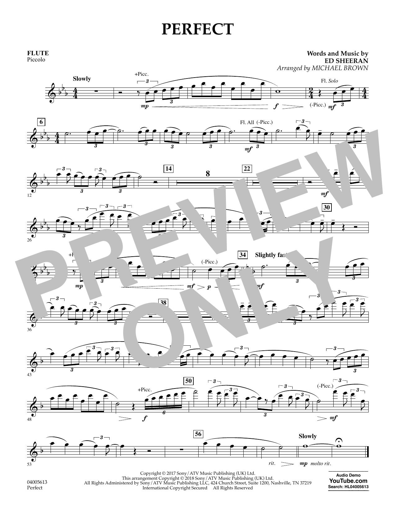 Perfect (arr. Michael Brown) - Flute/Piccolo (Concert Band)