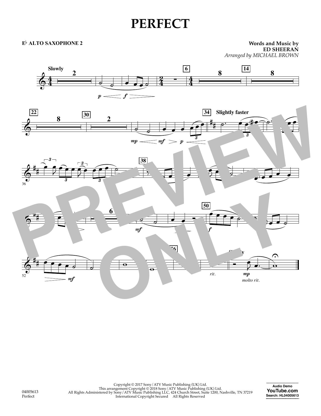 Perfect (arr. Michael Brown) - Eb Alto Saxophone 2 (Concert Band)