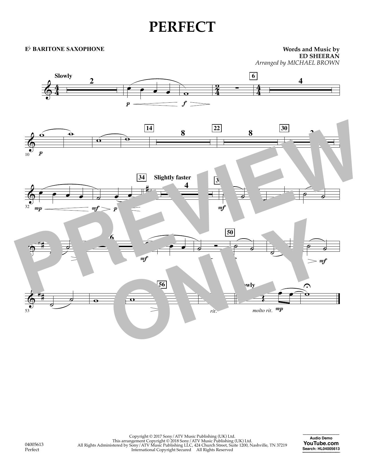 Perfect (arr. Michael Brown) - Eb Baritone Saxophone (Concert Band)
