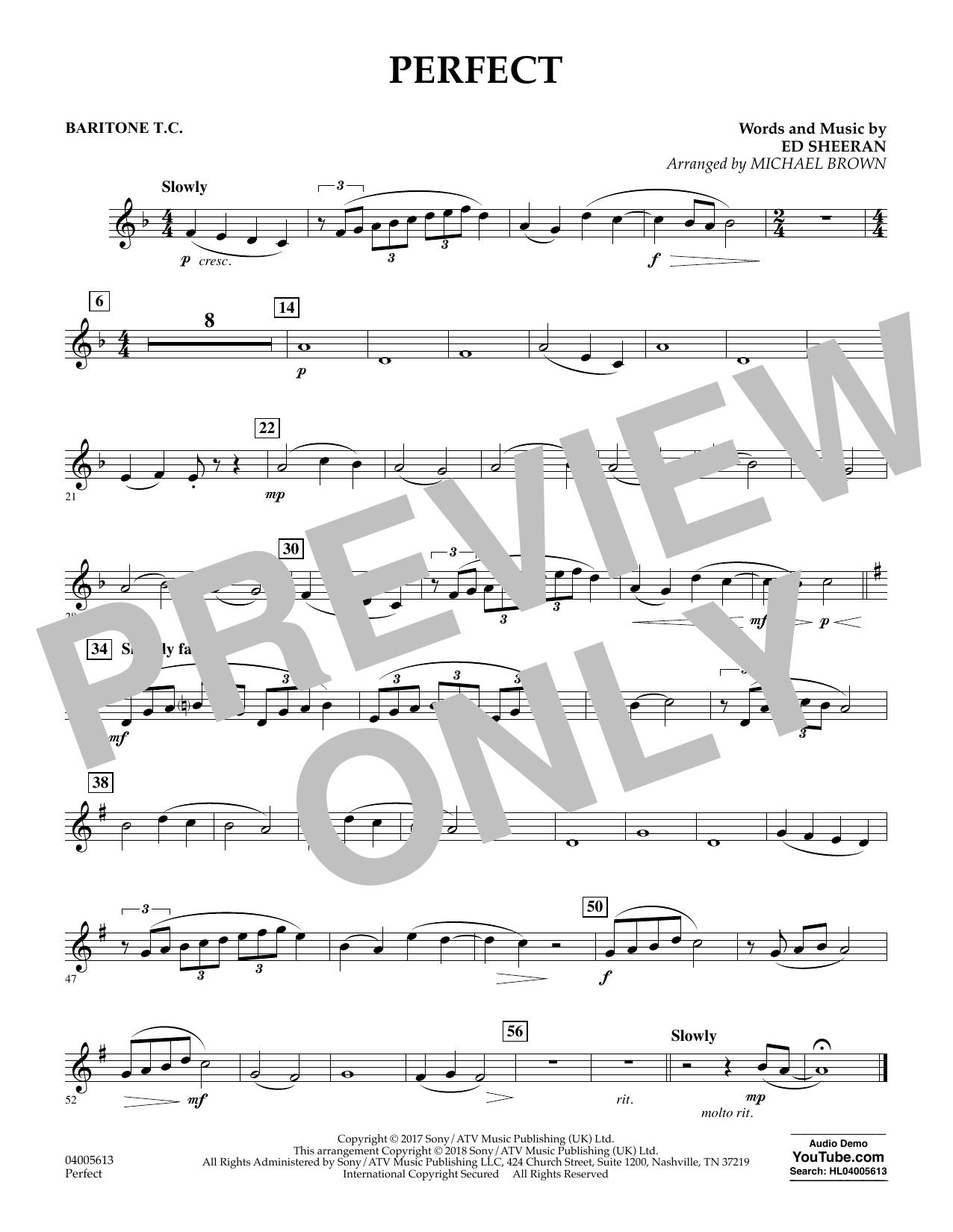 Perfect (arr. Michael Brown) - Baritone T.C. (Concert Band)