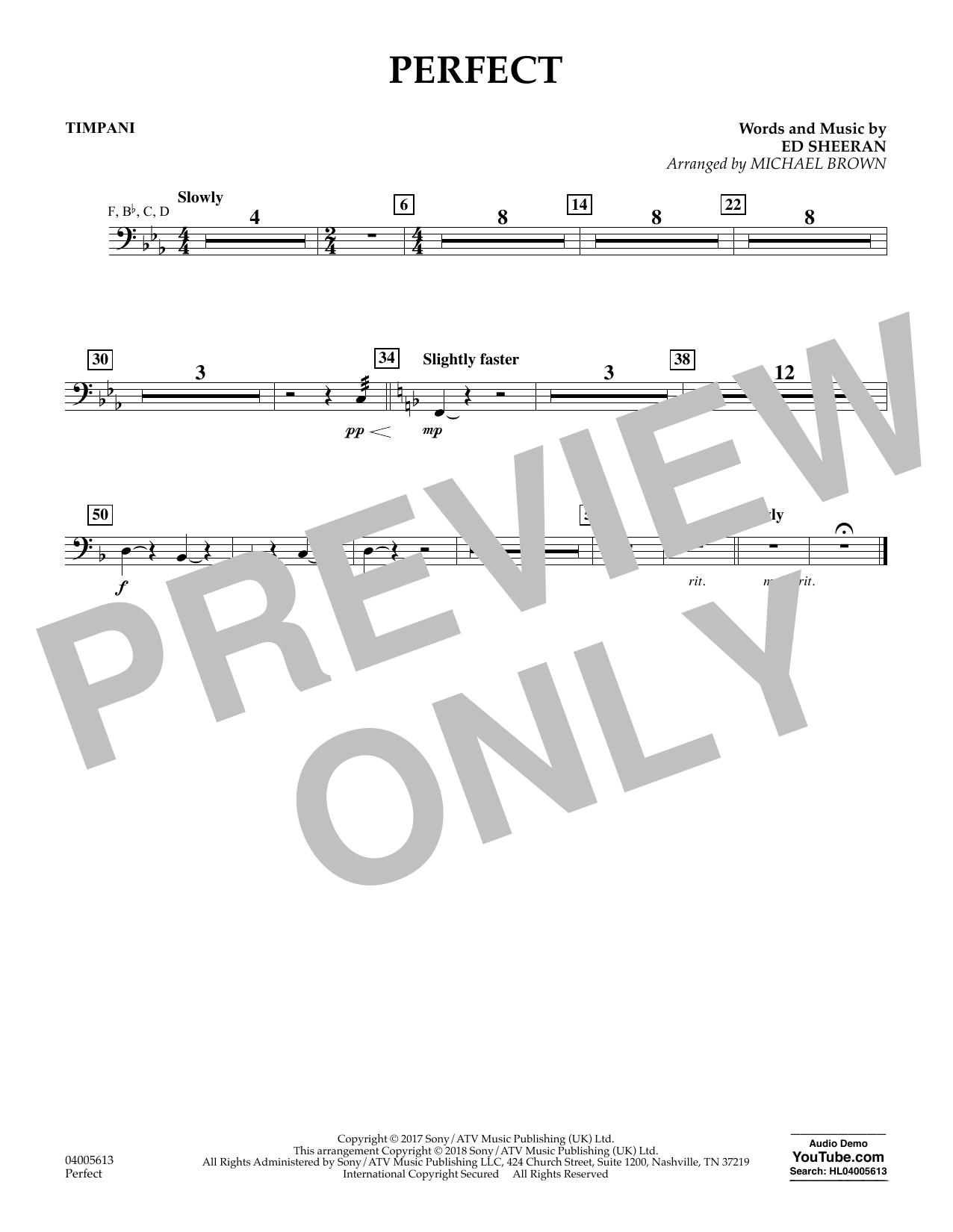 Perfect (arr. Michael Brown) - Timpani (Concert Band)