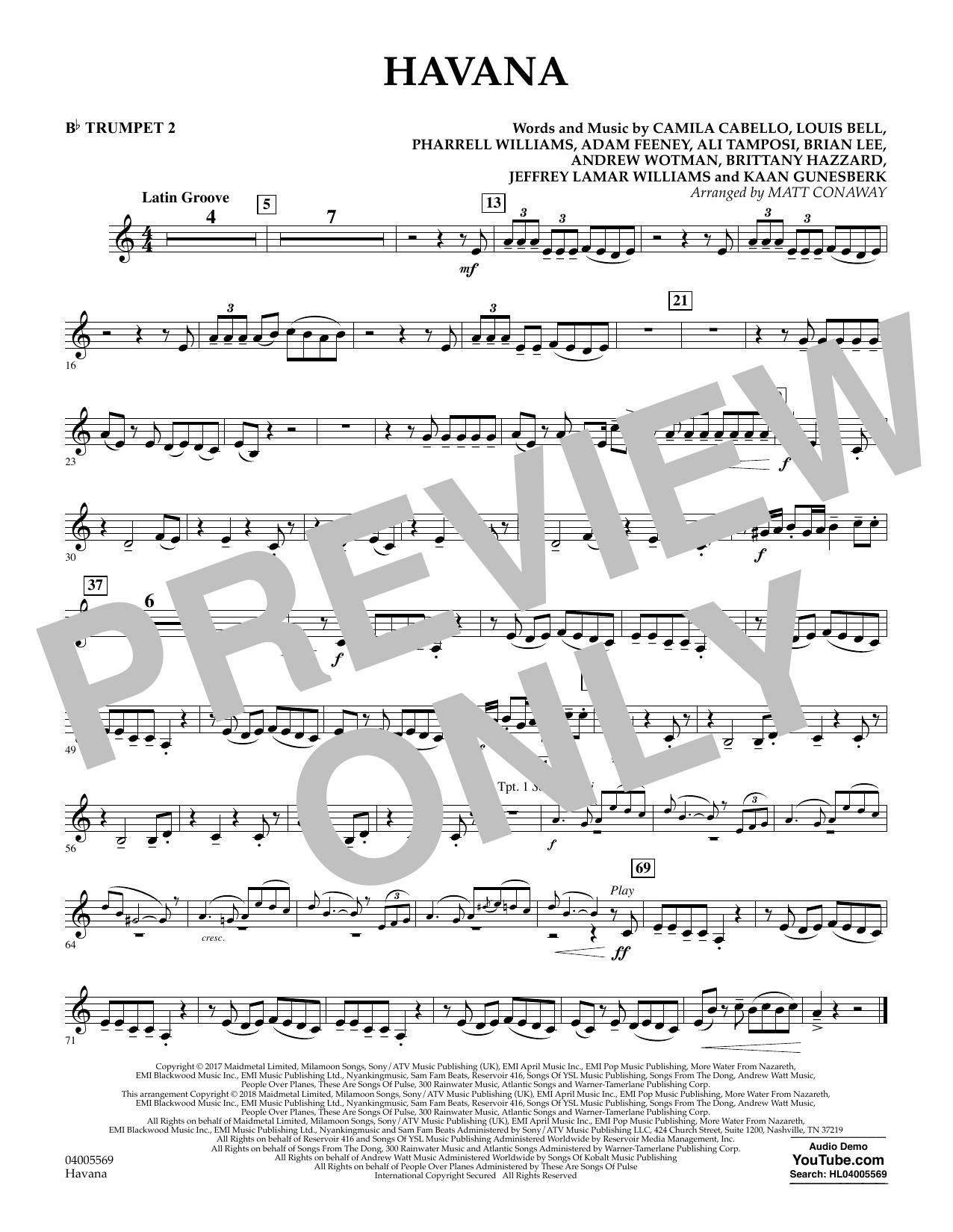 Havana - Bb Trumpet 2 (Concert Band)
