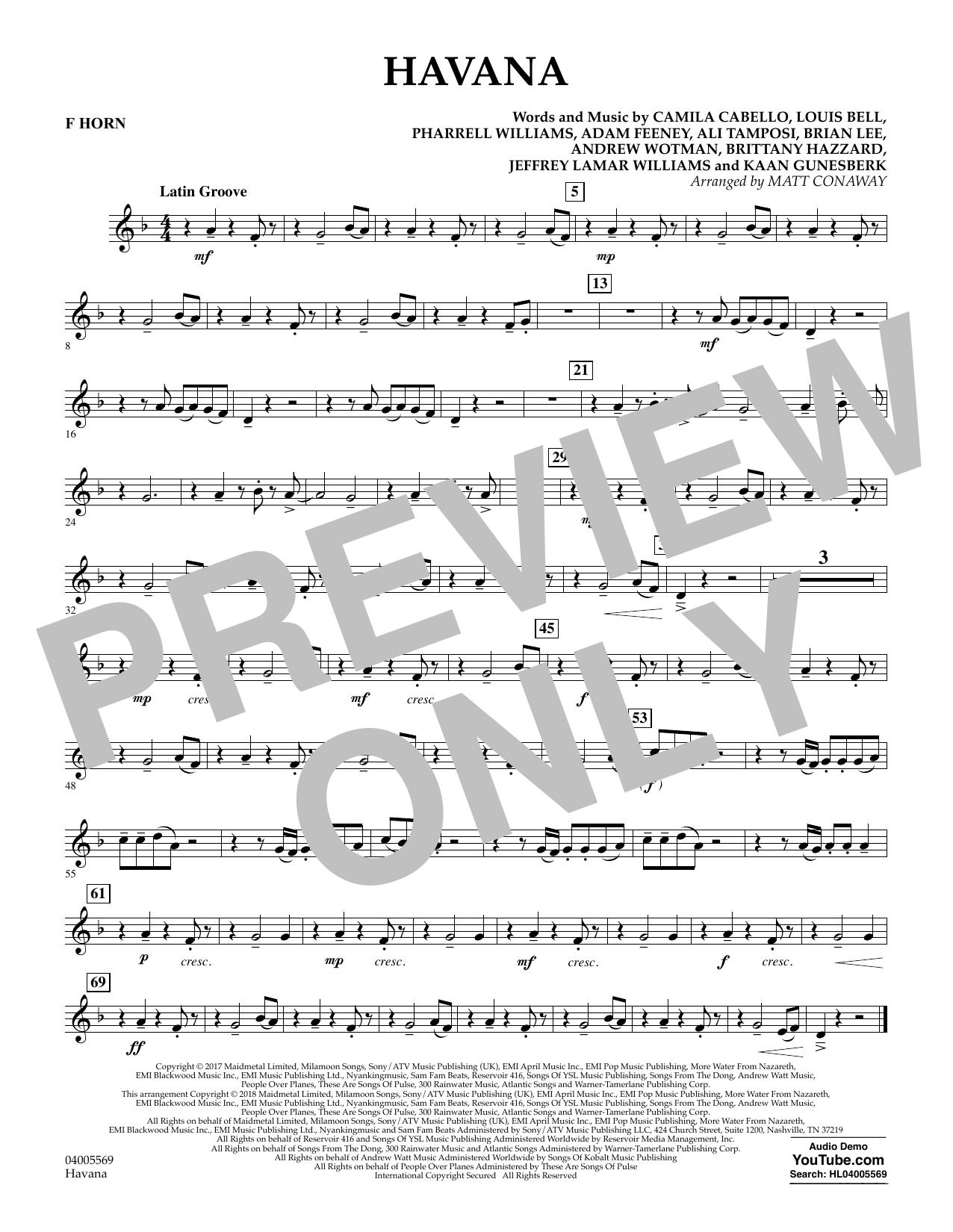 Havana - F Horn (Concert Band)