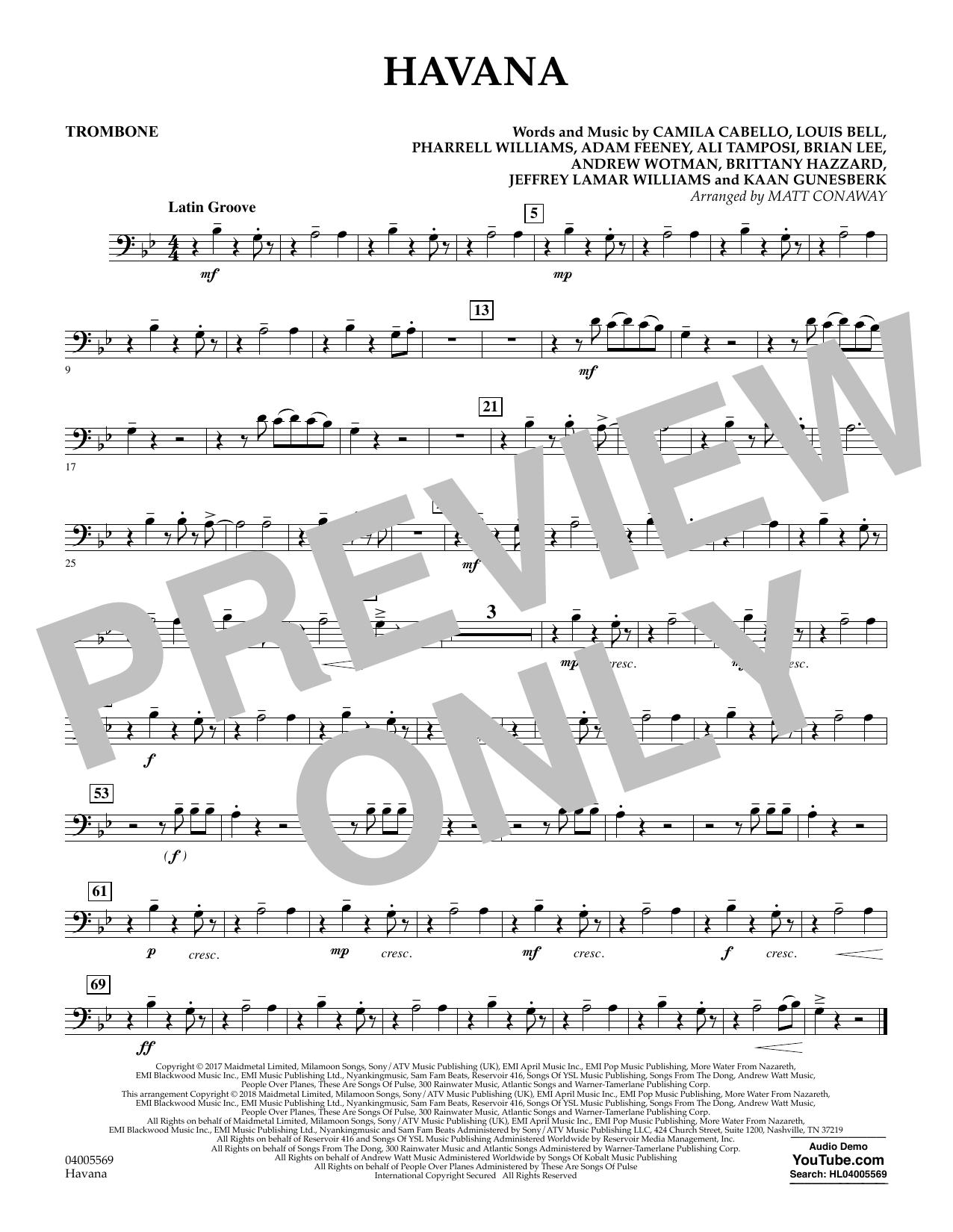 Havana - Trombone (Concert Band)