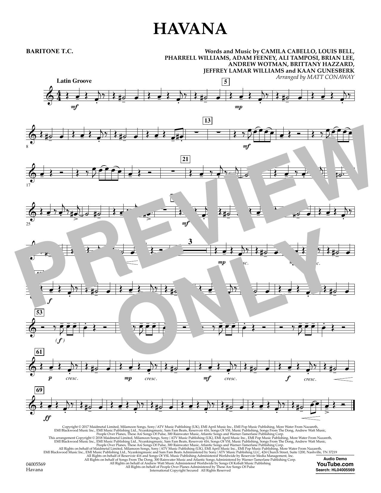 Havana - Baritone T.C. (Concert Band)