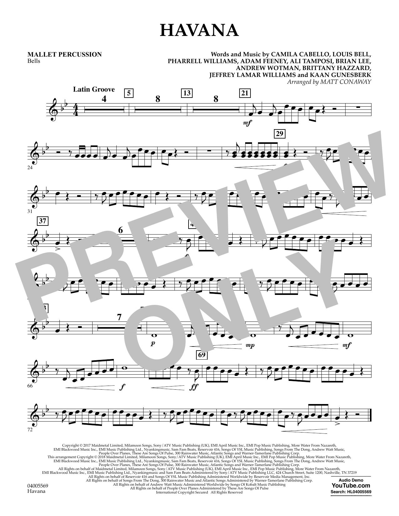 Havana - Mallet Percussion (Concert Band)