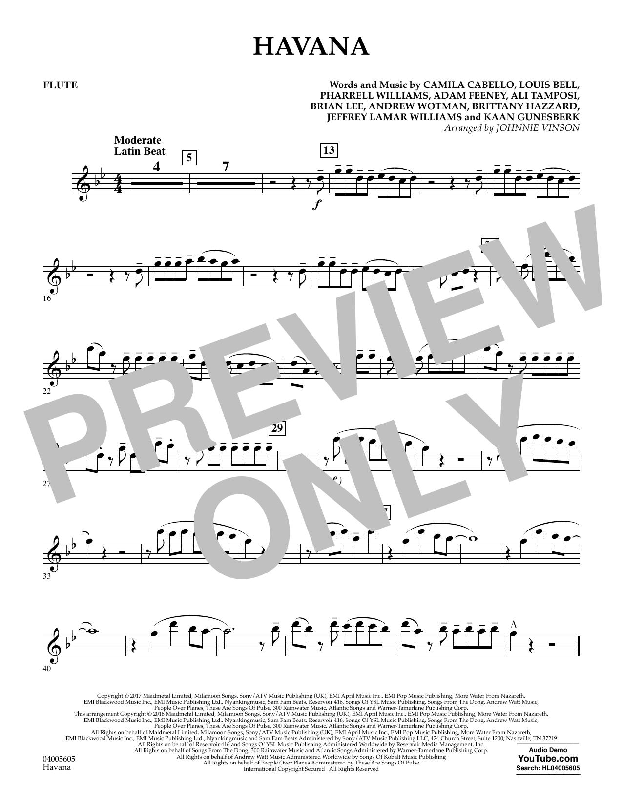 Havana - Flute (Concert Band)