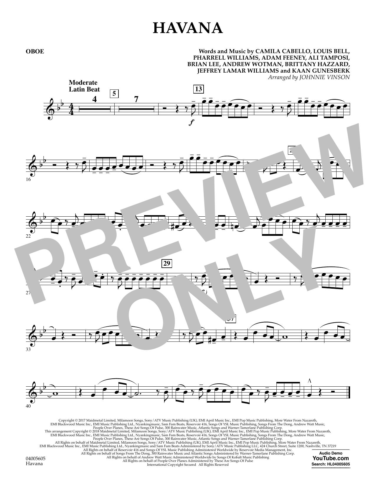 Havana - Oboe (Concert Band)