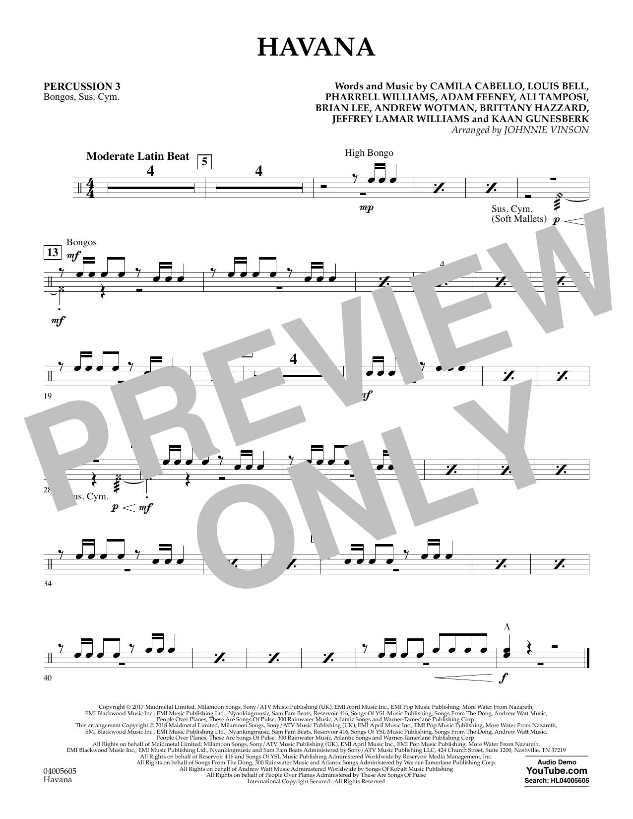 Havana - Percussion 3 (Concert Band)