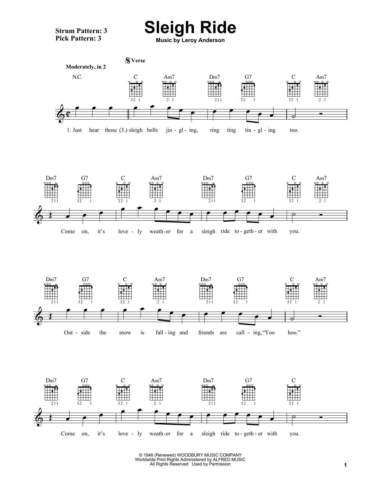 Sleigh Ride (Easy Guitar)