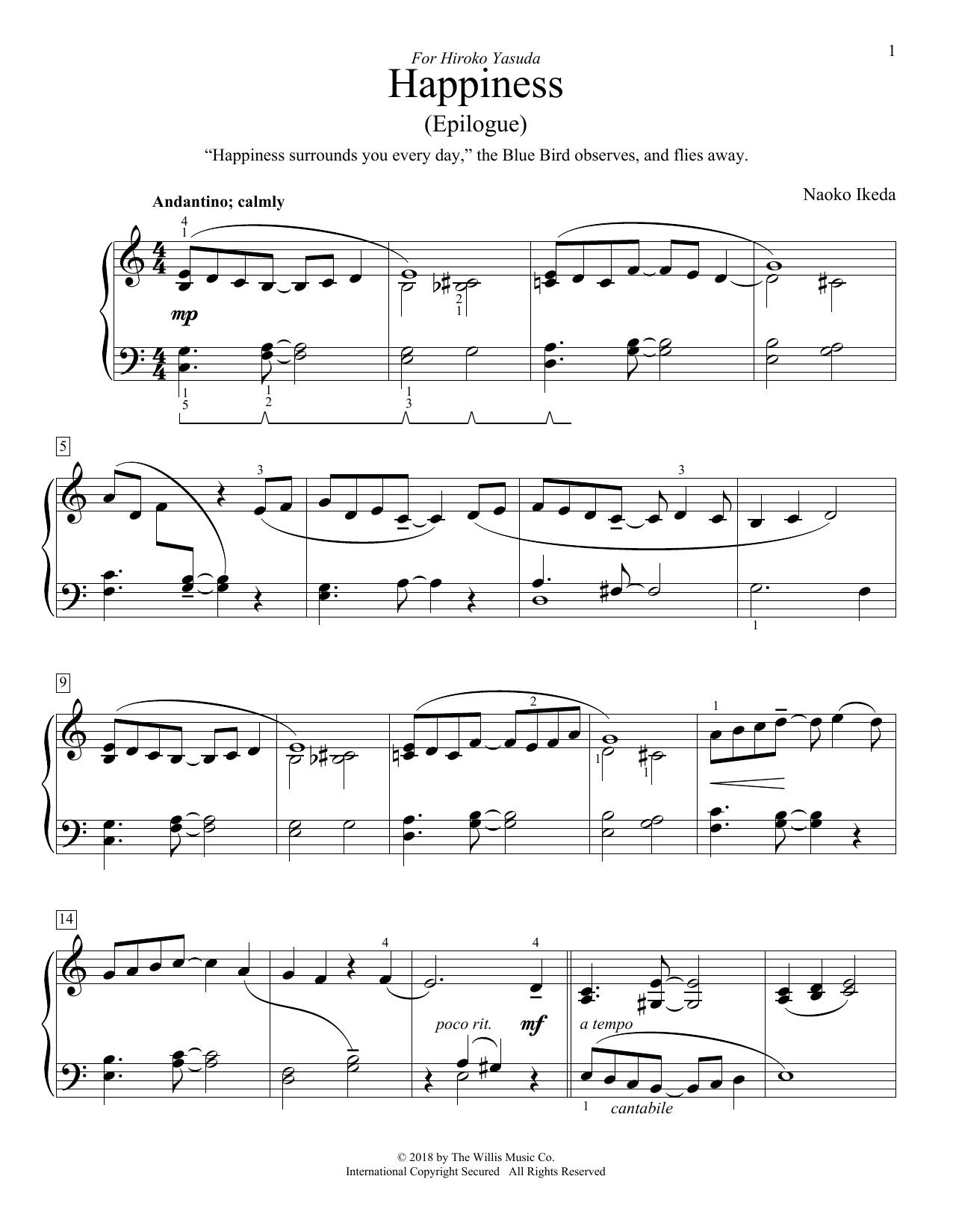 Happiness (Epilogue) (Educational Piano)