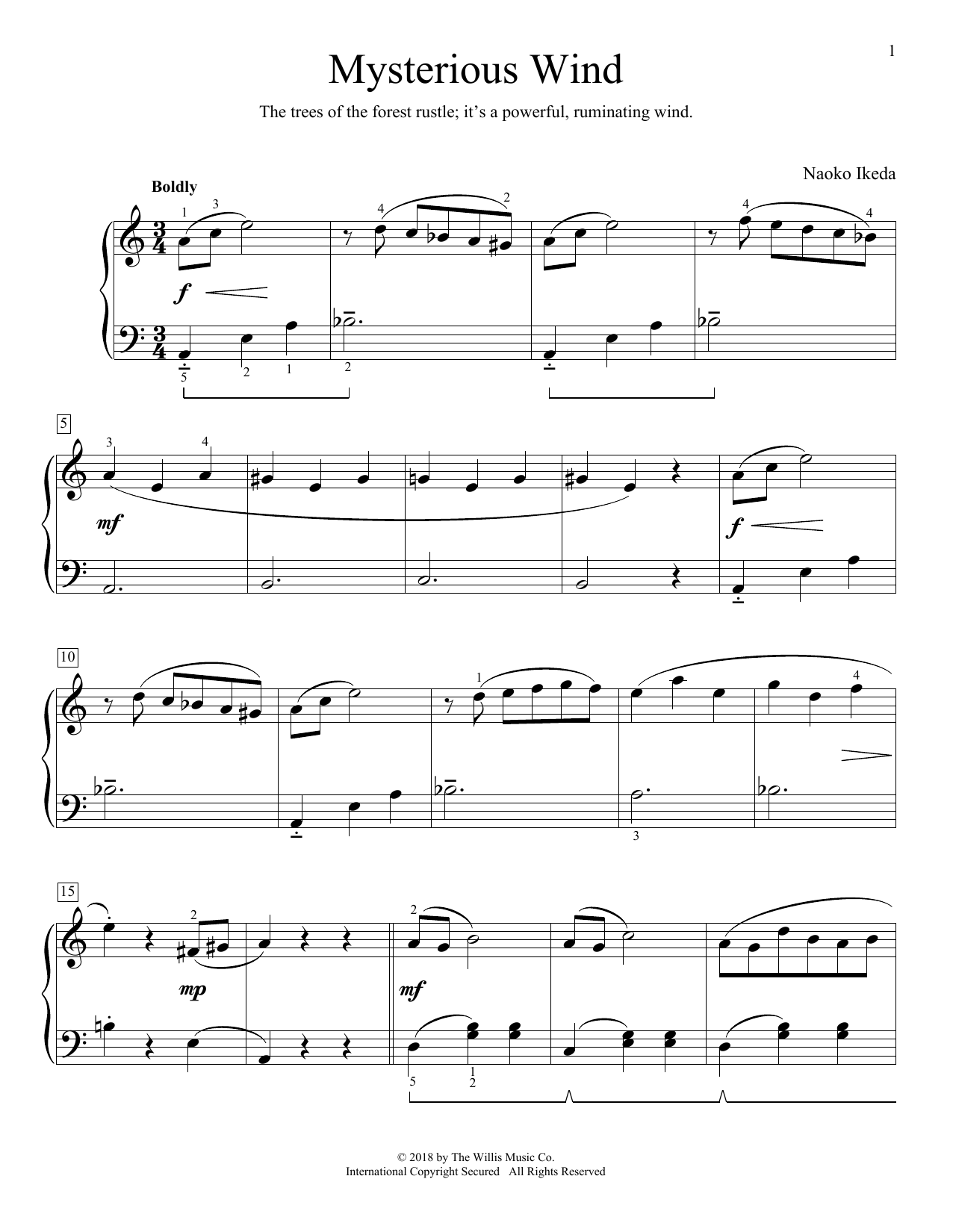 Mysterious Wind (Educational Piano)