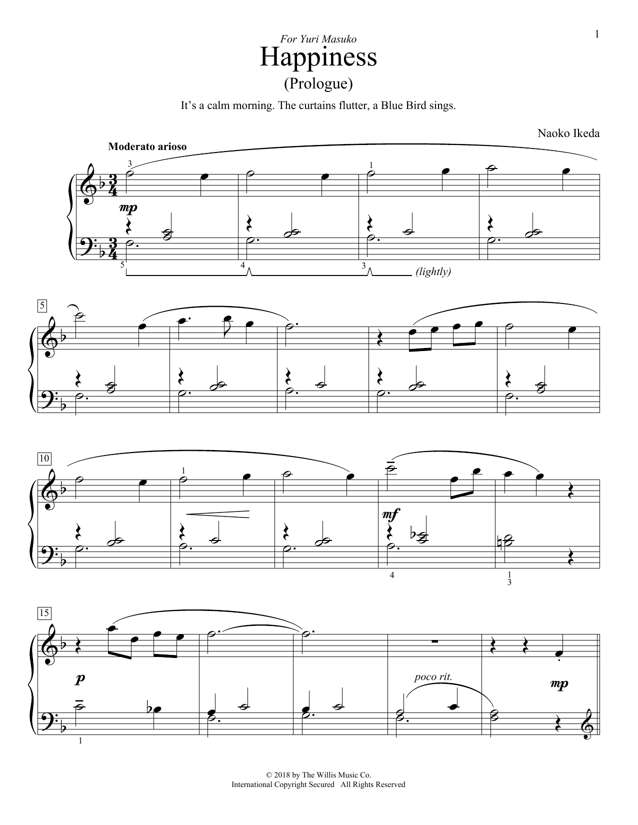 Happiness (Prologue) (Educational Piano)