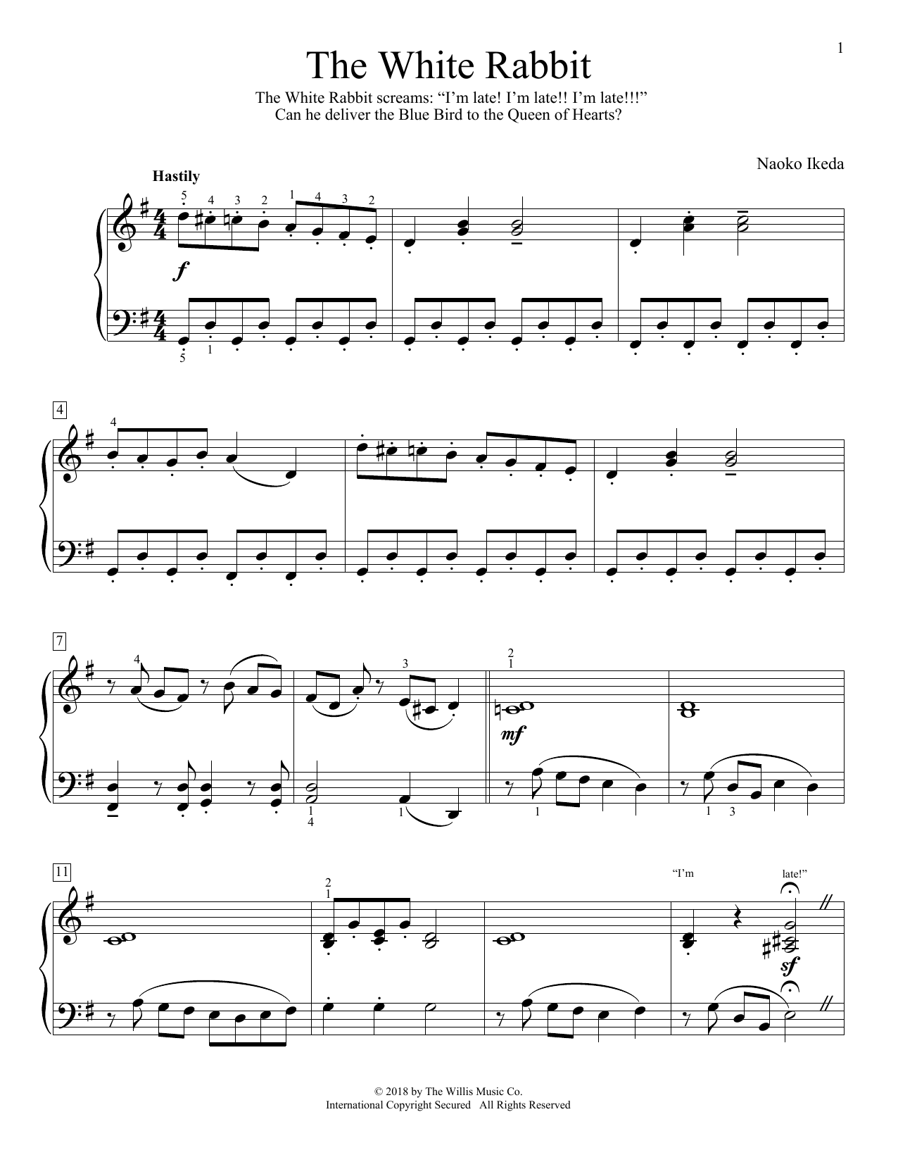 The White Rabbit (Educational Piano)