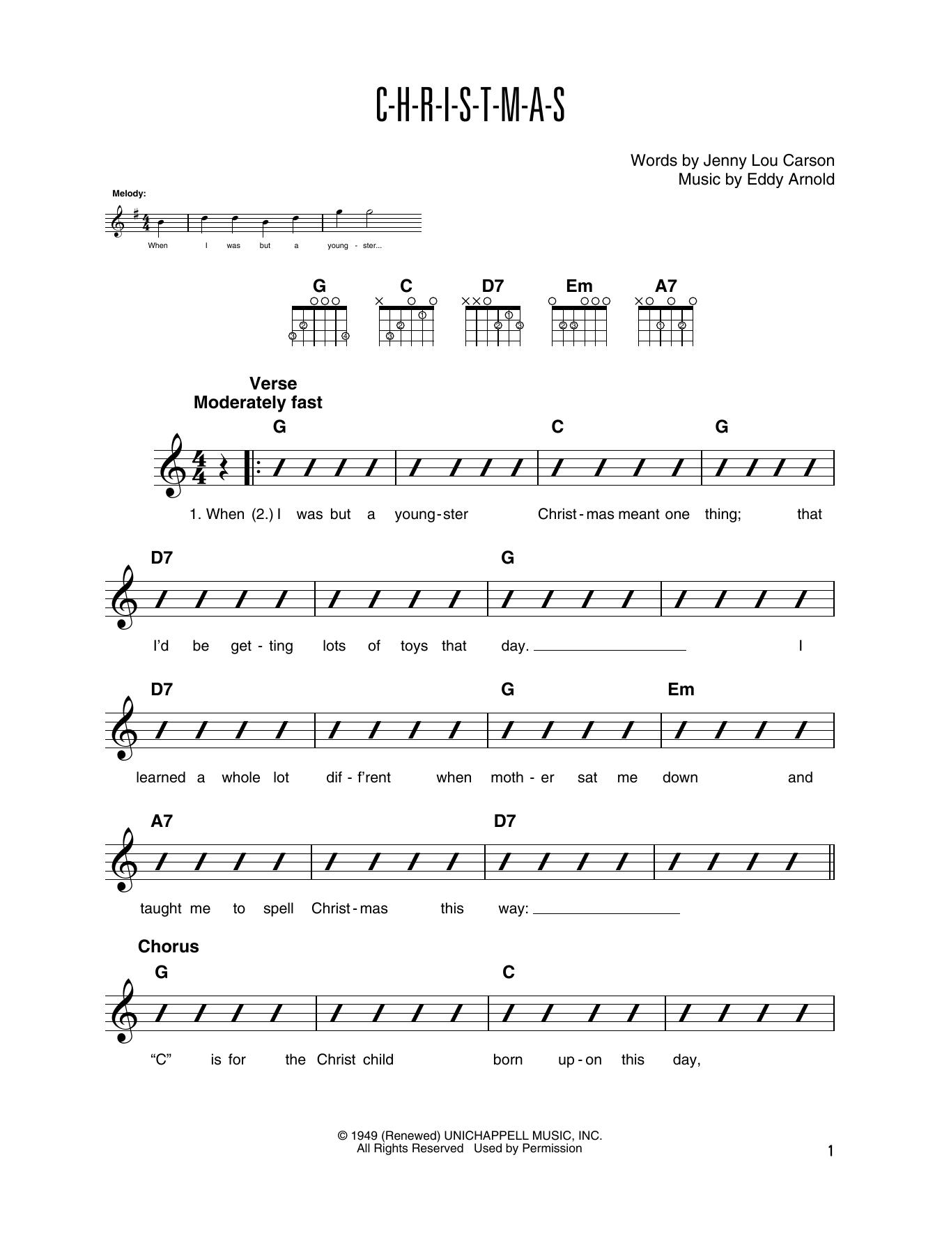 C-H-R-I-S-T-M-A-S (Guitar Tab)