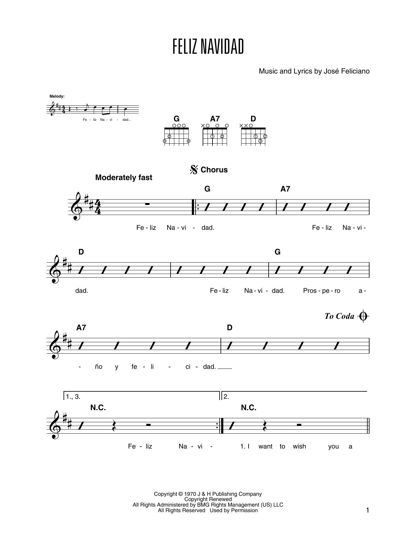 feliz navidad solo guitar print sheet music now feliz navidad solo guitar print sheet music now