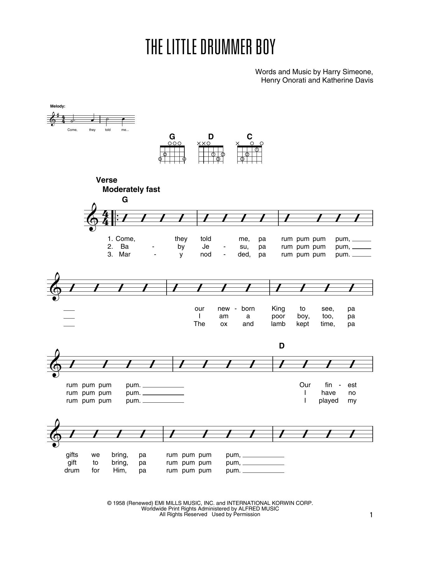 The Little Drummer Boy (Solo Guitar Tab)