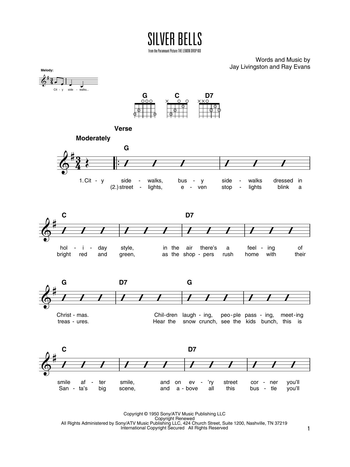 Silver Bells (Solo Guitar Tab)
