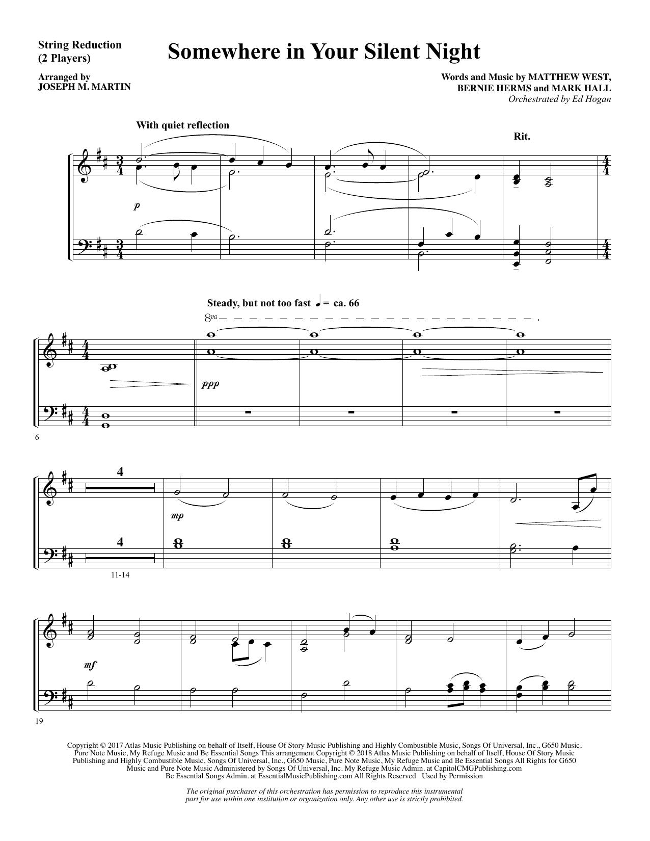 Somewhere in Your Silent Night - Keyboard String Reduction (Choir Instrumental Pak)
