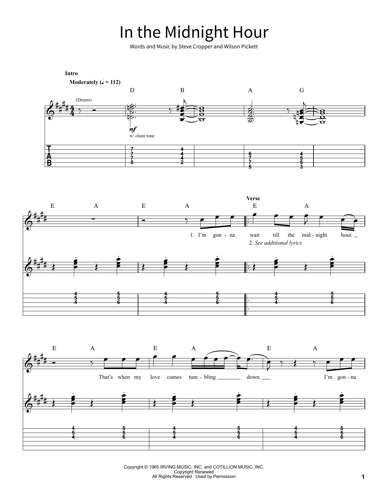 In The Midnight Hour (School of Rock – Guitar Tab)