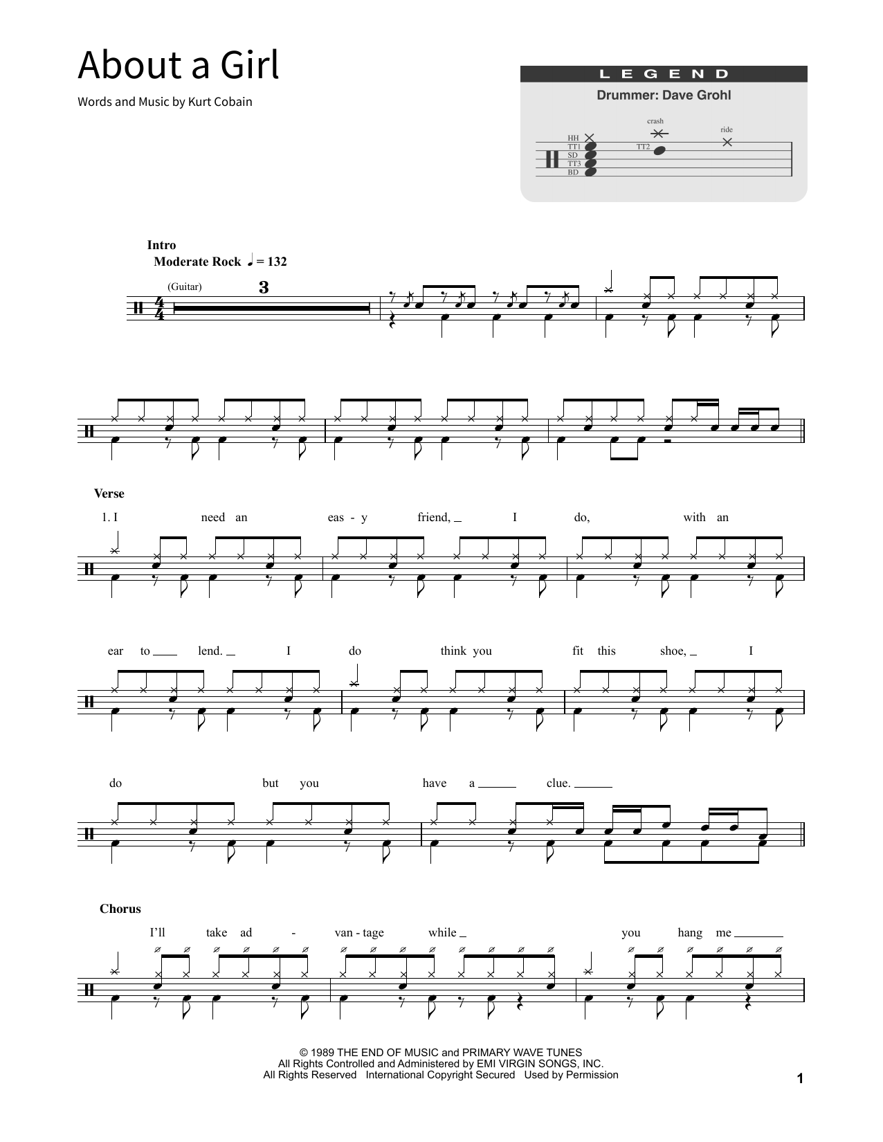 About A Girl (School of Rock – Drums)