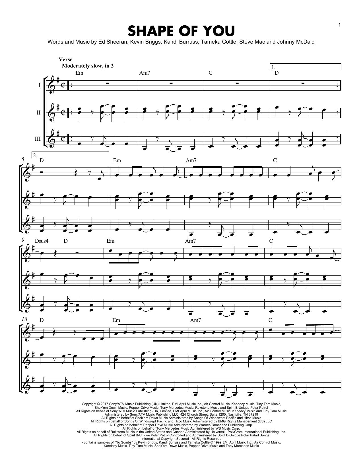 Shape Of You Sheet Music