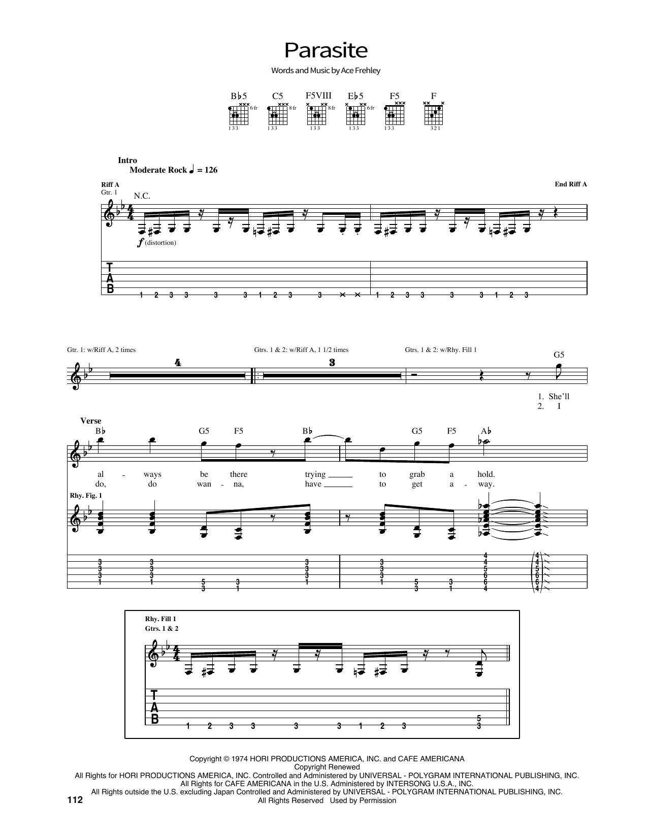 Parasite Sheet Music