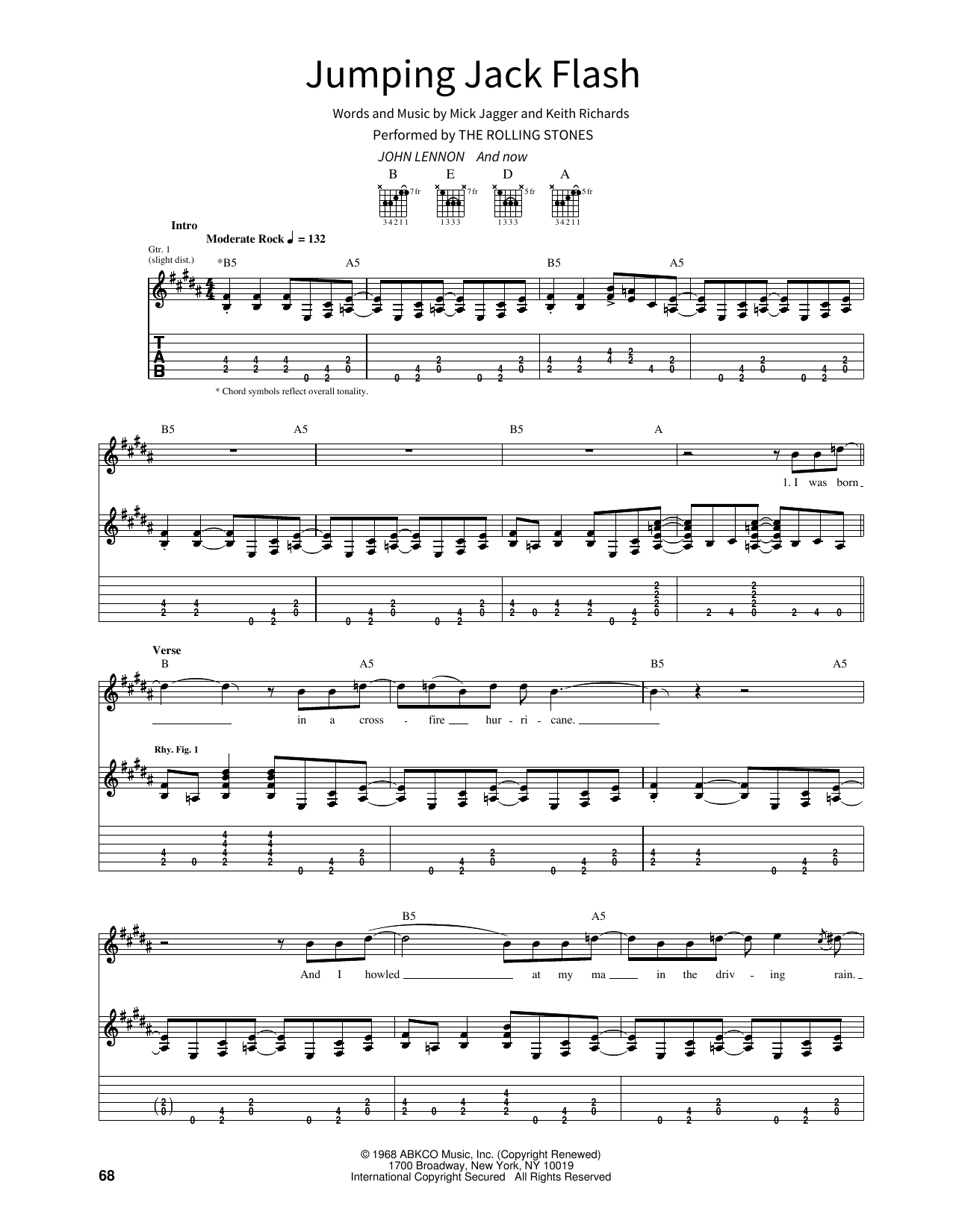 Jumping Jack Flash Sheet Music